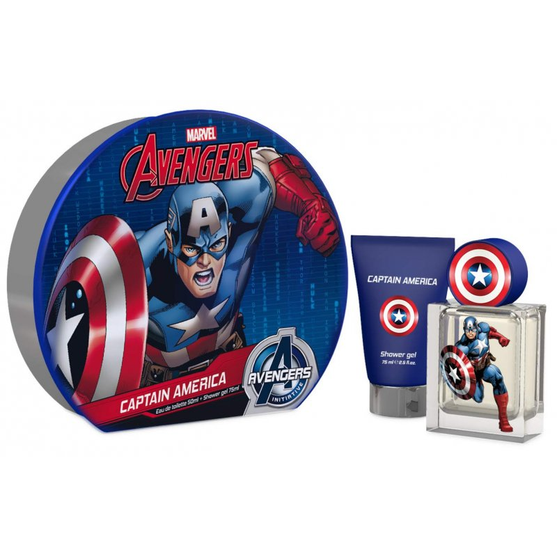 Capitan America 50ml Mas Shower Gel 75ml Set