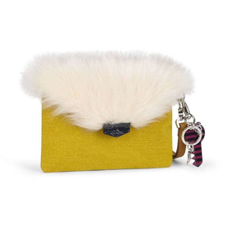 Kipling Furry Phaenna Mustard Yellow