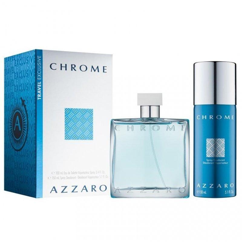 Azzaro Chrome 100ml + Spray Deo 150ml